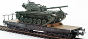 BRD German Bundeswehr M48 A2G Patton loaded on a six axle flat car