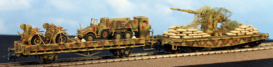 REI 007400 - 8.8CM AA Gun and Krupp Protze Truck Transport Set