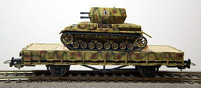 REI 007620 - Wirbelwind Loaded on haevy 4 Axle Flat Car