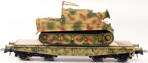 REI REI00101 - Heavy Strumtiger on Four Axle Flat Car
