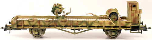 REI REI00121 - 2-Axle Flat Car with 60cm Anti Aircraft Search Light
