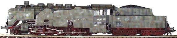 REI REI0028 - BR50 2-10-0 Kriegs Lok in 6 tone camo w/ armour plating