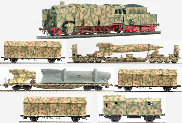 REI REI0032s - German WWII Wehrmacht V2 Transport Set in Ambush Livery (SOUND)
