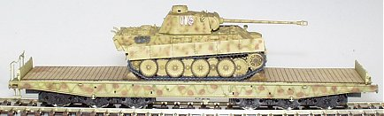 REI REI0050 - Panther Tank On Flat Wagon