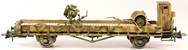 2-Axle Flat Car with 60cm Anti Aircraft Search Light