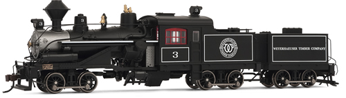 Rivarossi 2414 - USA Steam Locomotive Weyerhauser Timber Company #3 (DCC Sound Decoder)