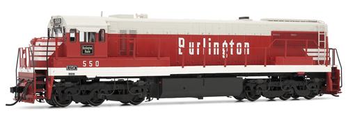 Rivarossi 2529 - General Electric U25C Diesel Locomotive 550 of the Chicago, Burlington & Quincy (DCC Sound Decoder)