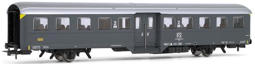 "Rivarossi 4146 - Coach  type Corbellini 2nd class with 2 axles, ""Grigio Ardesia"" livery FS"