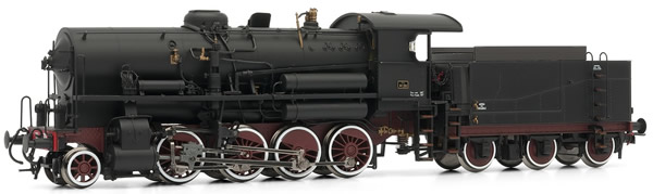 Rivarossi HR2385 - Italian steam locomotive Gr741 205 of the FS; with 3 axle tender, DC Digital with Sound