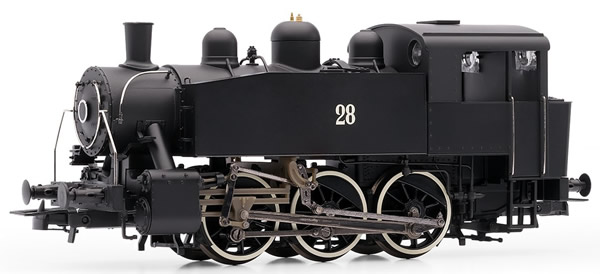 Rivarossi HR2642 - Italian steam locomotive S100 of the FS; ex USATC, black livery, DC Digital with Sound