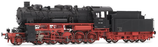 Rivarossi HR2718 - German Steam Locomotive BR 58.10-21 of the DB with 3-dome boiler