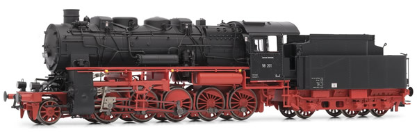 Rivarossi HR2719 - German Steam Locomotive BR 58.10-21 of the DR with 4-dome boiler