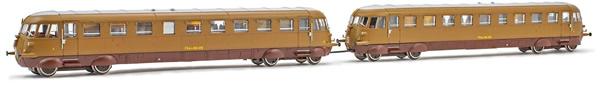 Rivarossi HR2748 - Italian 2 unit Diesel railcar Set Aln 556 of the FS