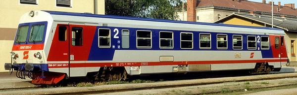 Rivarossi HR2757S - Austrian Diesel railcar series 5047 of the ÖBB (DCC Sound Decoder)