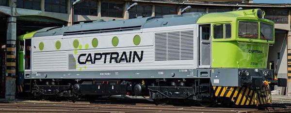 Rivarossi HR2844S - Italian Diesel locomotive D.753 Captrain Italia (DCC Sound Decoder)