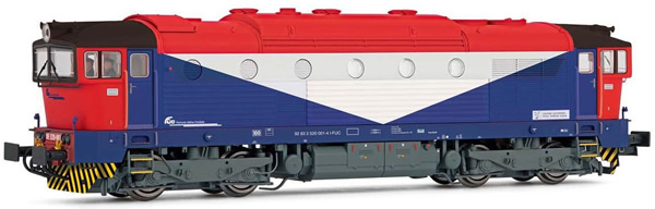 Rivarossi HR2845S - Italian Diesel locomotive DE520 of the FS (DCC Sound Decoder)