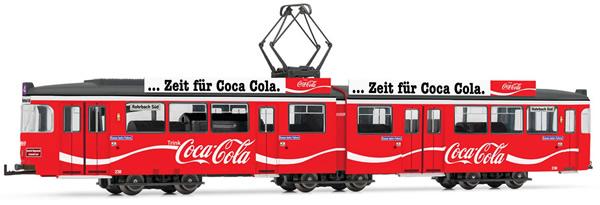 Rivarossi HR2861D - Tram, DUEWAG GT6, Coca-Cola, red livery