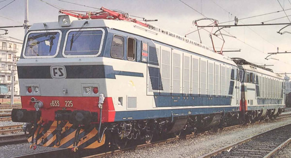 Rivarossi HR2875S - Italian 2pc Electric locomotive E.633 200 Set of the FS (DCC Sound Decoder)