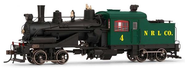 Rivarossi HR2883S - USA Heisler Steam locomotive Northern Redwood Lumber Company no.4 (DCC Sound Decoder)