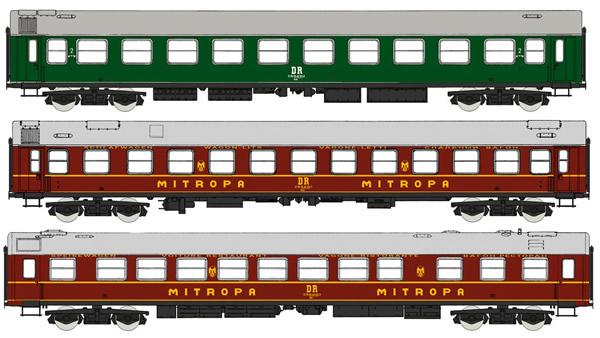 "Rivarossi HR4234 - 3pc Coach Set ""Spree-Alpen-Express"""