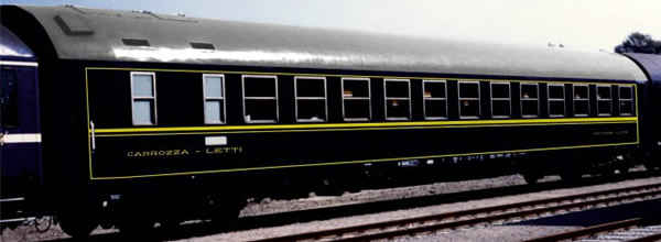 Rivarossi HR4240 - Italian sleeping car MU 1973 of the FS; ex-CIWL livery