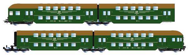 Rivarossi HR4304 - 4pc Double-decker passenger coaches with cab-control