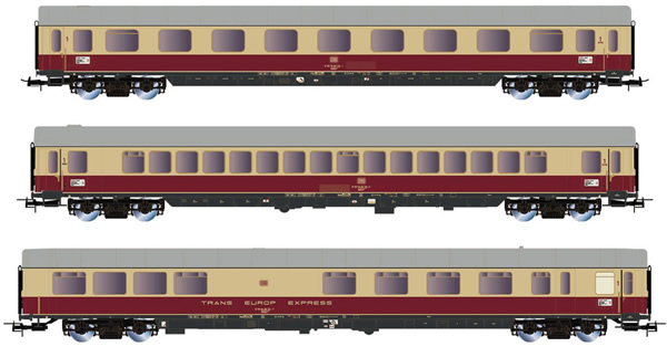 Rivarossi HR4305 - 3pc Passenger coache Set TEE Helvetia