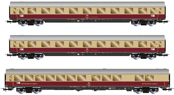 Rivarossi HR4306 - 3pc Passenger coache Set TEE Helvetia