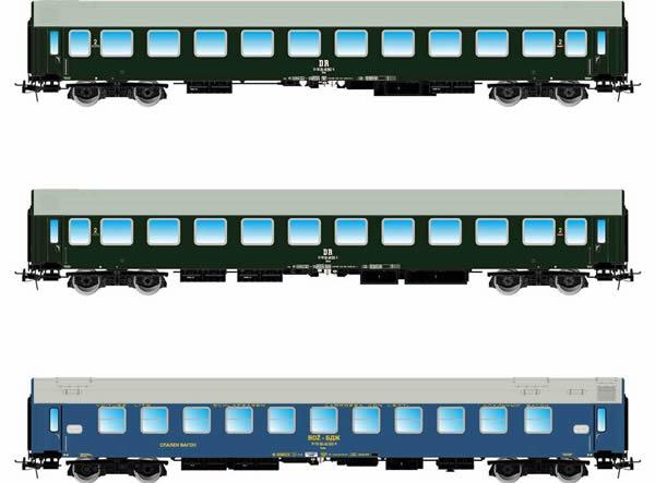 "Rivarossi HR4308 - 3pc ""Pannonia-Express"" Passenger Coach Set"