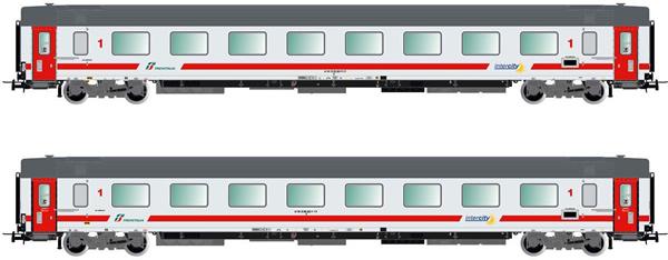 """Rivarossi HR4315 - 2pc Passenger Coache Set Gran Confort '85 """"Progetto 901"""""""