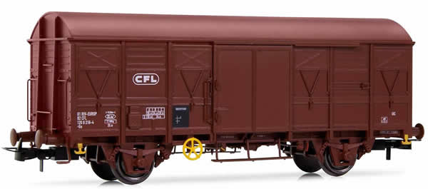 Rivarossi HR6415 - Closed Wagon Gs, brown livery