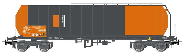 "Rivarossi HR6421 - 4-axle Isolated Tank Wagon, red/grey livery, ""Uetikon"""