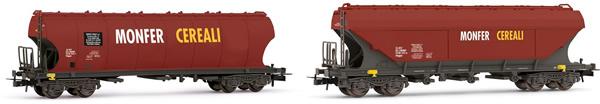 Rivarossi HR6475 - 2pc 4-axle Uagpps wagon MONFER CEREALI