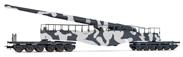Rivarossi HR6532 - Railway gun K5, camouflaged by the DRG