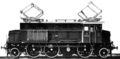 Electric locomotive class 1029  in origin livery BBÖ