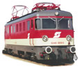 "Austrian Electric Locomotive, Class 1046, 1st Series, ""Valousek-Design"" of the OBB"
