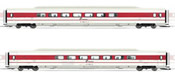 2pc Add on Coaches fo ETR 450 in white/red livery, new Trenitalia logo of the FS