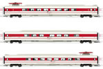 3pc Add on Coaches fo ETR 450 in white/red livery, new Trenitalia logo of the FS