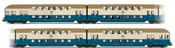 Set x 4 coaches double-decker type DBv  DR