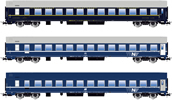 Italian Passenger Coach Set type MU of the FS
