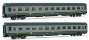 Italian 2pc Passenger Coach Set 2nd Class of the FS