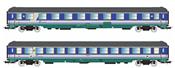 Italian 2pc Passenger Coach Set of the FS