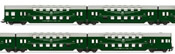 4pc Double Decker Coaches with Straight End and Drivers Cabin