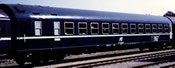Italian Sleeping Car Type MU 1973 of the FS, TEN livery