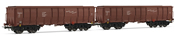 German 2-unit Set 4-axle Open Wagons type Eals of the DR