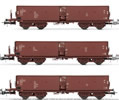 3pc German Self Discharging Wagon Set, OOhmtu of the DR