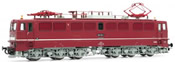 German electric locomotive class 251 of the DR; red livery with small white stripe