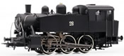 Italian steam locomotive S100 of the FS; ex USATC, black livery
