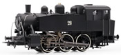 Italian steam locomotive S100 of the FS; ex USATC, black livery, DC Digital with Sound