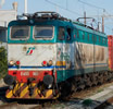 Italian electric locomotive E655 of the FS in XMPR livery